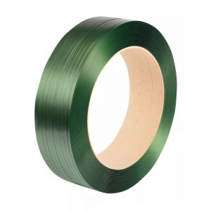 Safeguard Green 15.5 x 0.85mm Embossed PET Strap, 1500mtr