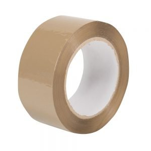 Packing Tape, polypropylene, 48mm x 132mtr, buff