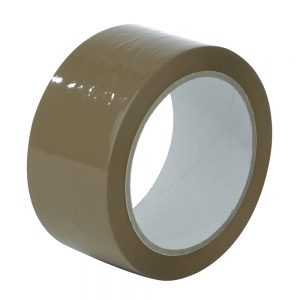 Pacplus 75mm x 66mtr Buff Tape