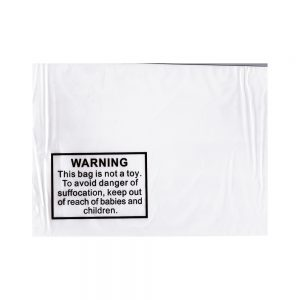 Tenzapac 350 x 450mm Self Seal Bags (printed Child Warning Notice)