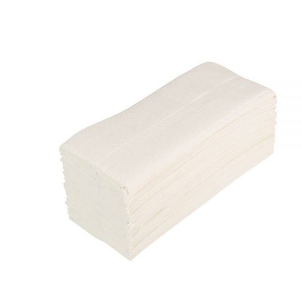 White Soft Two Ply Hand Towels