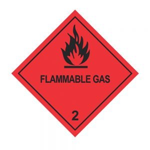 Transpal FLAMMABLE GAS Labels