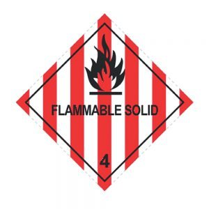 Transpal FLAMMABLE SOLID Labels