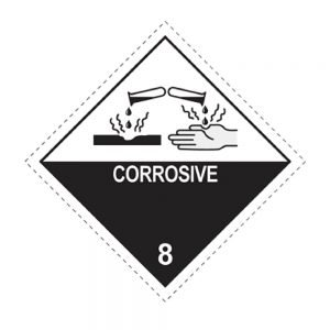 Transpal CORROSIVE Labels