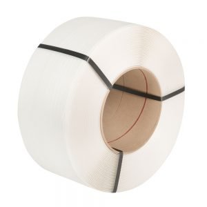 Safeguard White 9 x 0.55mm PP Strap, 110kg break strain