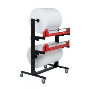Pacplan Dual 1200mm Mobile Roll Cutter Dispenser