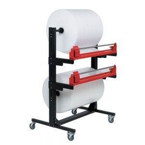 Pacplan Dual 1500mm Mobile Roll Cutter Dispenser