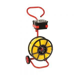 Safeguard Plastic Reel Strap Dispenser Trolley