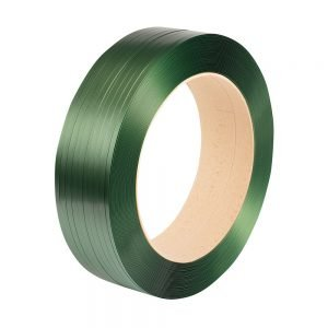 Safeguard Green 15.5 x 0.6mm Embossed PET Strap, 2000mtr