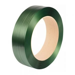 Safeguard Green 12 x 0.7mm Embossed PET Strap, 2000mtr