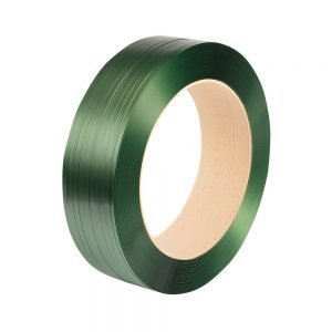 Safeguard Green 15.5 x 0.7mm Embossed PET Strap, 1750mtr