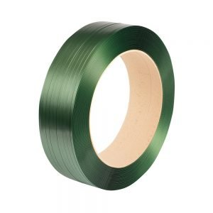 Safeguard Green 15.5 x 0.9mm Embossed PET Strap, 1500mtr