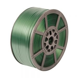 Safeguard Green 15.5 x 0.7mm Embossed PET Strap, 1200mtr