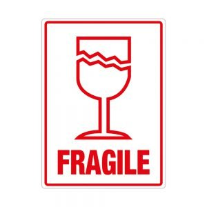 Transpal FRAGILE Labels, 108 x 79mm