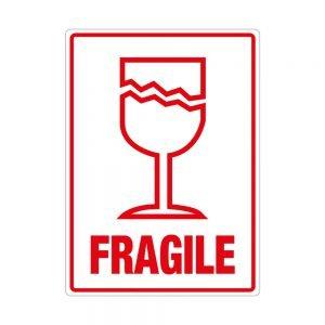 Transpal FRAGILE Labels, 108 x 79mm