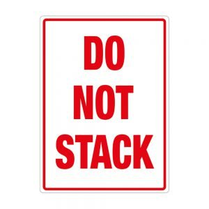 Transpal DO NOT STACK Labels