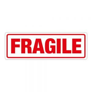 Transpal FRAGILE Labels, 148 x 50mm