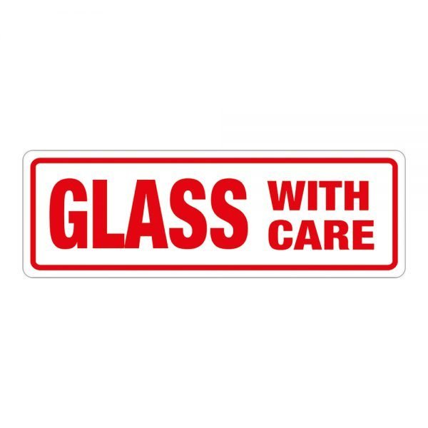 Transpal GLASS WITH CARE Labels