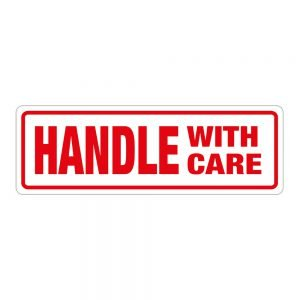 Transpal HANDLE WITH CARE Labels, 148 x 50mm