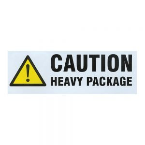 Transpal CAUTION HEAVY PACKAGE Labels