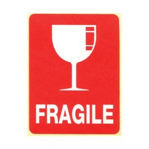 Transpal FRAGILE GLASS Labels