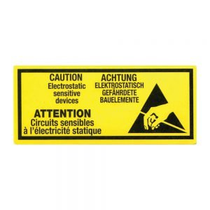 Transpal ANTI STATIC WARNING Labels