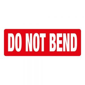 Transpal DO NOT BEND Labels