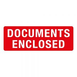 Transpal DOCUMENTS ENCLOSED Labels