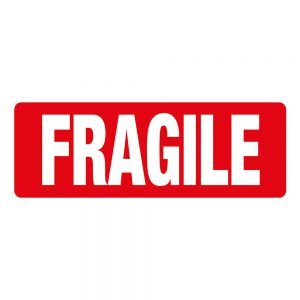 Transpal FRAGILE Labels, 89 x 32mm