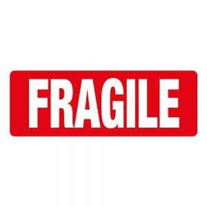 Transpal FRAGILE Labels, 89 x 32mm