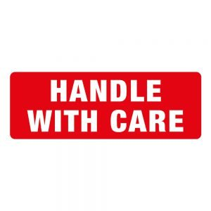 Transpal HANDLE WITH CARE Labels, 89 x 32mm