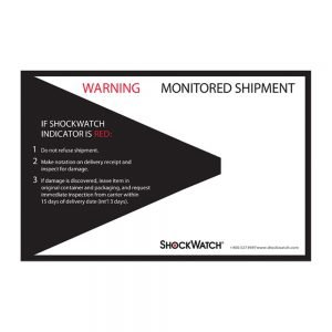 Tegralert ShockWatch Companion Label