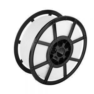 Safeguard White 12 x 0.55mm PP Strap, plastic reel