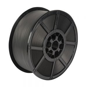Safeguard Black 12 x 0.7mm PP Strap on plastic reel