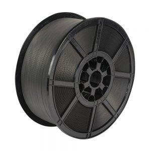 Safeguard Black 12 x 0.8mm PP Strap on plastic reel